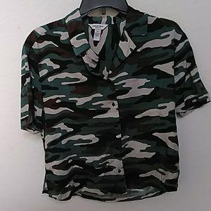 Camo blouse